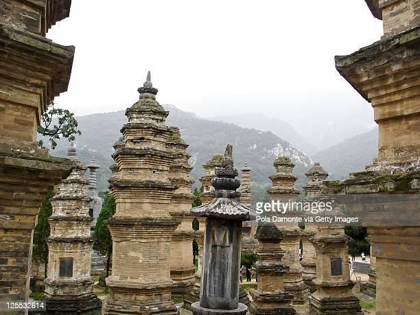 Shaolin stupa forest at Zhengzhou, China