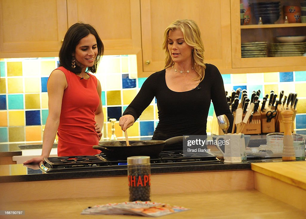 Shape magazine's Bahar Takhtehchian(L) and <a gi-track='captionPersonalityLinkClicked' href=/galleries/search?phrase=Alison+Sweeney&family=editorial&specificpeople=217974 ng-click='$event.stopPropagation()'>Alison Sweeney</a> attend the Ali Sweeney's SHAPE Cover Party on May 14, 2013 in New York City.