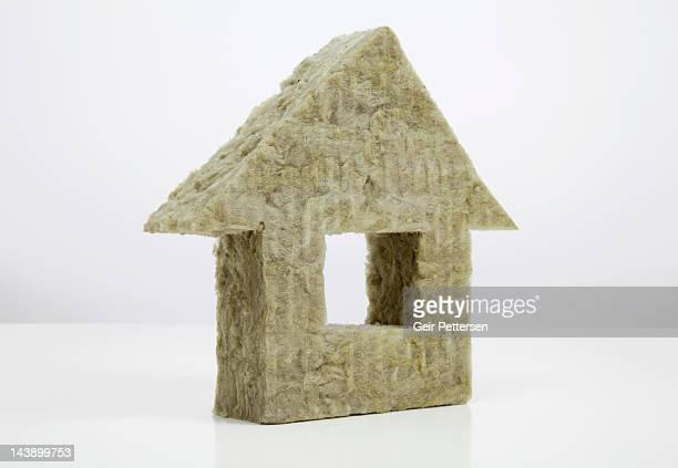 Shape of house made from insulation material