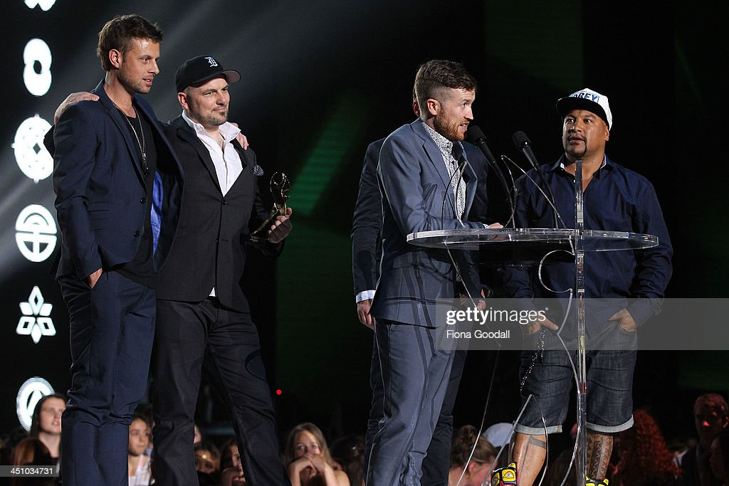 Shapeshifter wins the best group awards during the New Zealand Music Awards at Vector Arena on November 21, 2013 in Auckland, New Zealand.