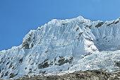 Shapraraju peak (6112m) from Laguna 69 trail, Ancash province, Peru