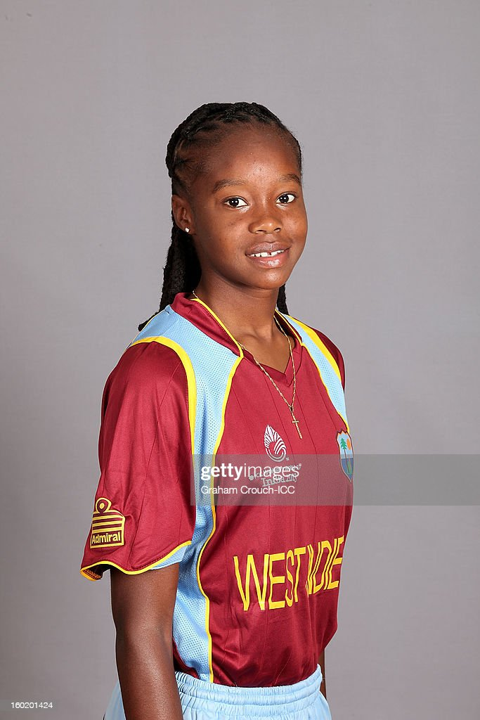 Shaquana Quintyne of West Indies poses at a portrait session ahead of the ICC Womens World Cup 2013 at the Taj Mahal Palace Hotel on January 27, 2013 in Mumbai, India.
