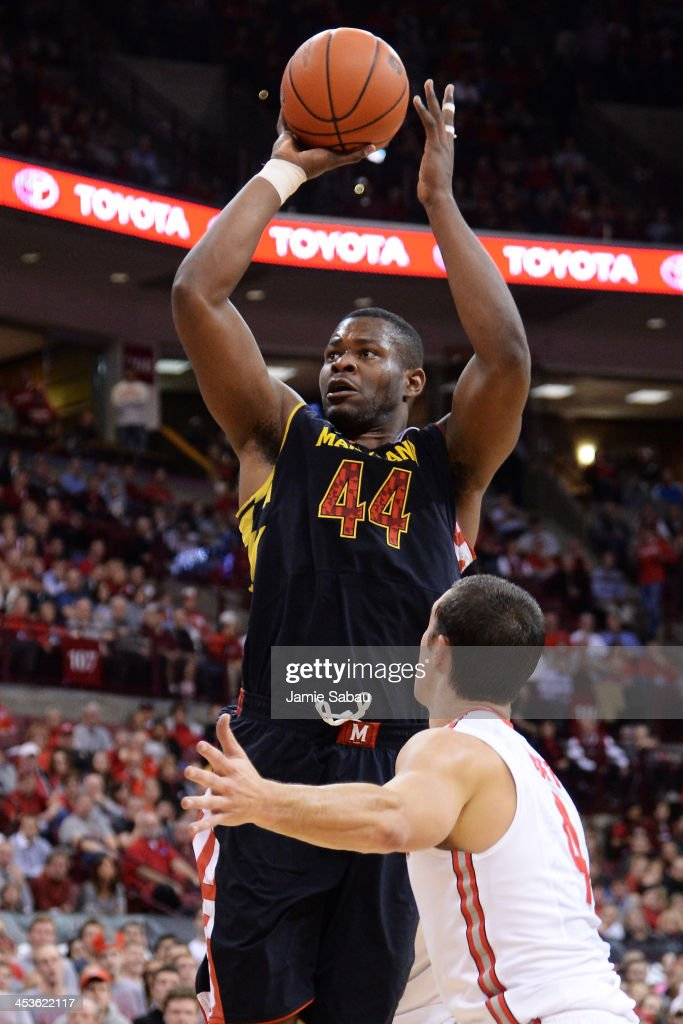 Shaquille Cleare #44 of the Maryland Terrapins shoots over <a gi-track='captionPersonalityLinkClicked' href=/galleries/search?phrase=Aaron+Craft&family=editorial&specificpeople=7348782 ng-click='$event.stopPropagation()'>Aaron Craft</a> #4 of the Ohio State Buckeyes in the first half on December 4, 2013 at Value City Arena in Columbus, Ohio. Ohio State defeated Maryland 76-60.