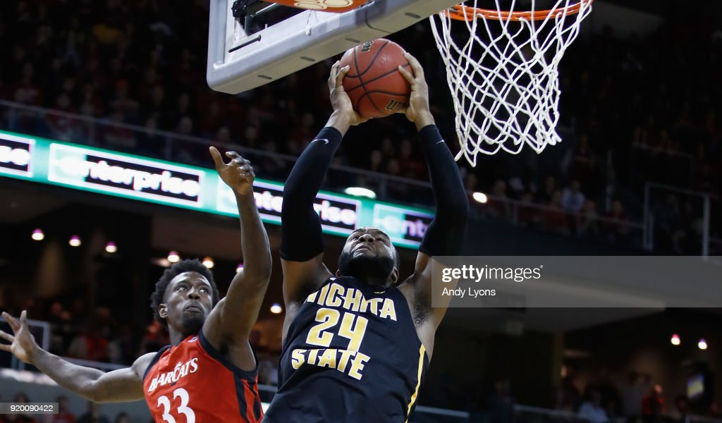 Shaquille Morris #24 of the Witchita State Shockers shoots the ball during the 76-72 win over the Cincinnati Bearcats at BB&T Arena on February 18, 2018 in Highland Heights, Kentucky.