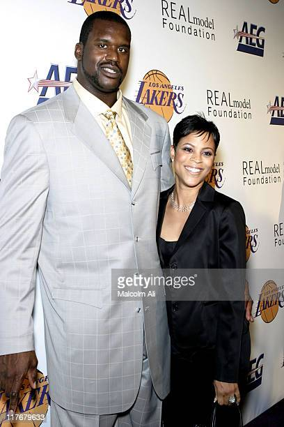 Shaquille O' Neal and wife Shaunie Nelson during Shaquille O'Neal Hosts PreSeason Party to Benefit the Lakers Youth Foundation at The New Avalon in...