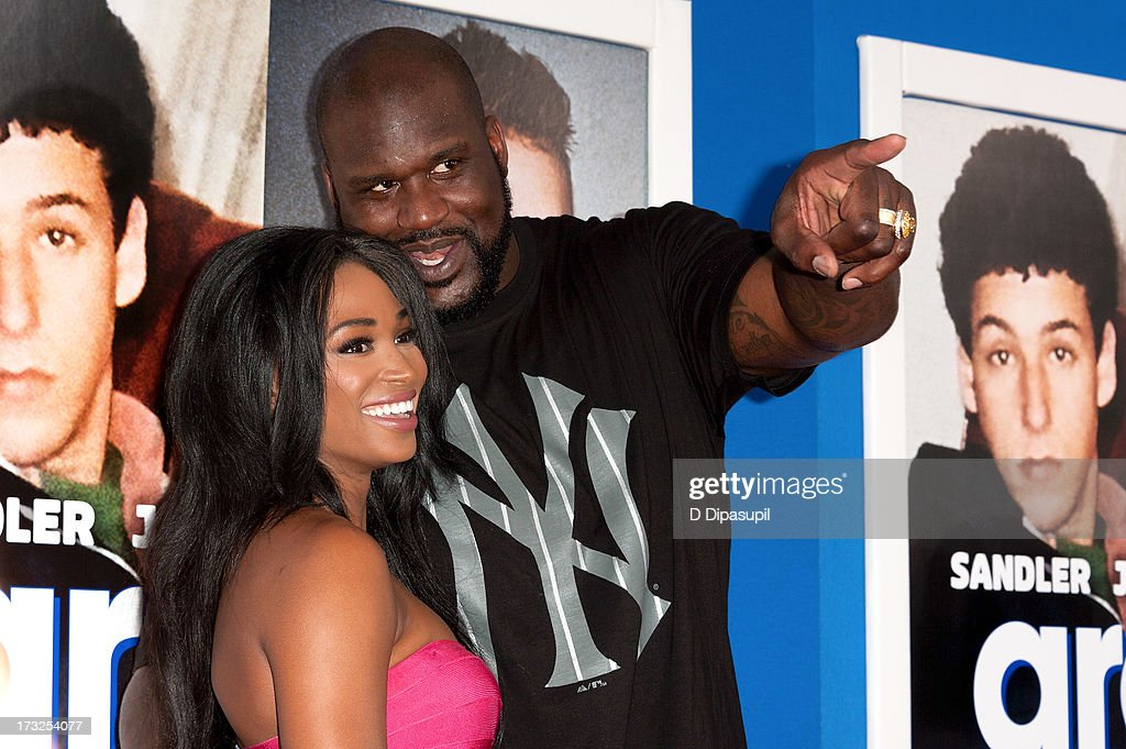 Shaquille O'Neal (R) and Nana Meriwether attend the 'Grown Ups 2' New York Premiere at AMC Lincoln Square Theater on July 10, 2013 in New York City.