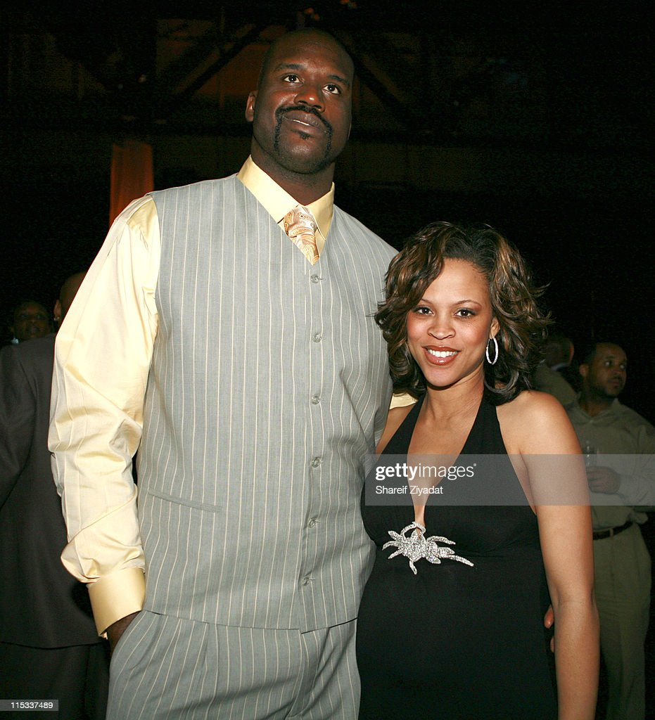 Shaquille O'Neal and Shaunie O'Neal during NBA Players Association Gala at Convention Center in Houston, Texas, United States.