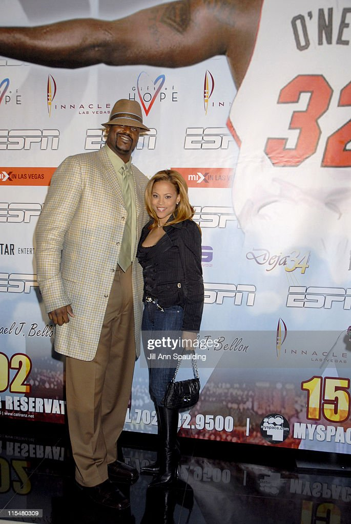 Shaquille O'Neal and Shaunie O'Neil during Shaq Day Party at Mix in Las Vegas Nevada United States