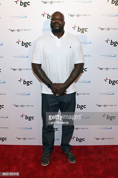Shaquille O'Neal attends Annual Charity Day hosted by Cantor Fitzgerald BGC and GFI at BGC Partners INC on September 12 2016 in New York City