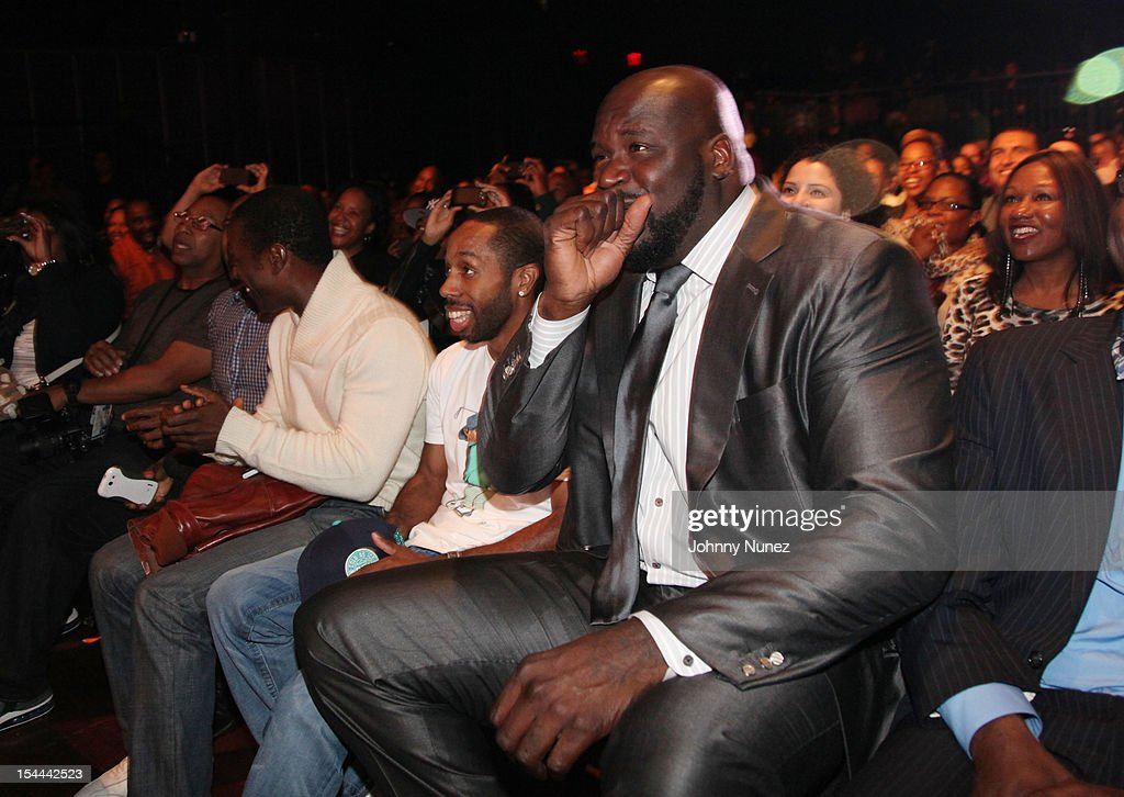 Shaquille O'Neal attends Shaquille O'Neal's All Star Comedy Jam at the Best Buy Theater on October 19, 2012 in New York City.