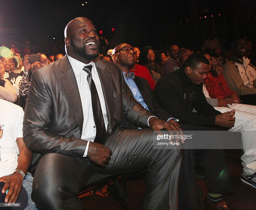 <a gi-track='captionPersonalityLinkClicked' href=/galleries/search?phrase=Shaquille+O%27Neal&family=editorial&specificpeople=201463 ng-click='$event.stopPropagation()'>Shaquille O'Neal</a> attends <a gi-track='captionPersonalityLinkClicked' href=/galleries/search?phrase=Shaquille+O%27Neal&family=editorial&specificpeople=201463 ng-click='$event.stopPropagation()'>Shaquille O'Neal</a>'s All Star Comedy Jam at the Best Buy Theater on October 19, 2012 in New York City.