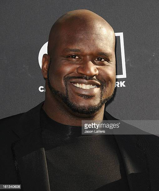 Shaquille O'Neal attends the Cartoon Network 3rd annual Hall Of Game Awards at Barker Hangar on February 9 2013 in Santa Monica California