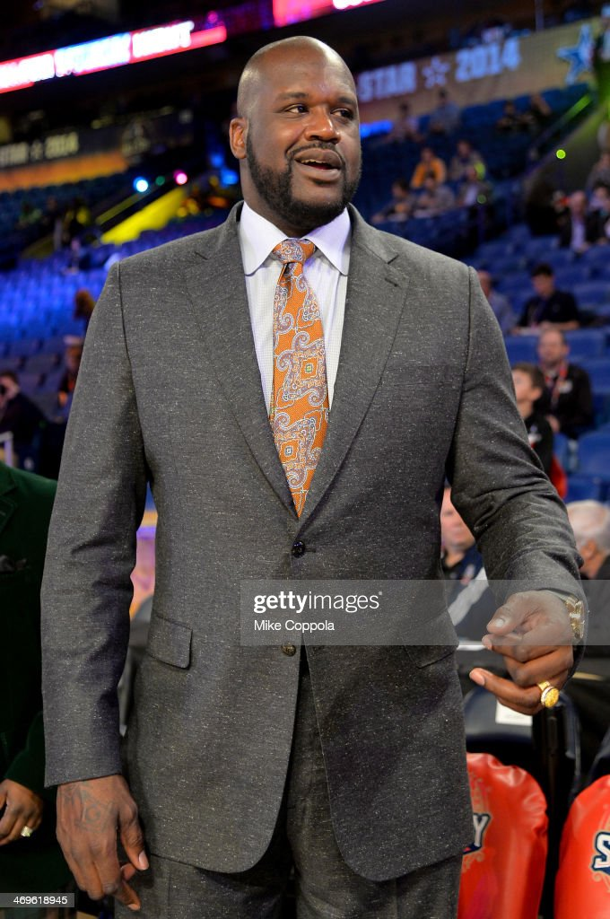 <a gi-track='captionPersonalityLinkClicked' href=/galleries/search?phrase=Shaquille+O%27Neal&family=editorial&specificpeople=201463 ng-click='$event.stopPropagation()'>Shaquille O'Neal</a> attends the State Farm All-Star Saturday Night during the NBA All-Star Weekend 2014 at The Smoothie King Center on February 15, 2014 in New Orleans, Louisiana.
