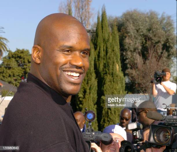 Shaquille O'Neal during Shaquille O'Neal Returns to Los Angeles as 'ShaqAClaus' at Challengers Boys and Girls Club of Los Angeles in Los Angeles...