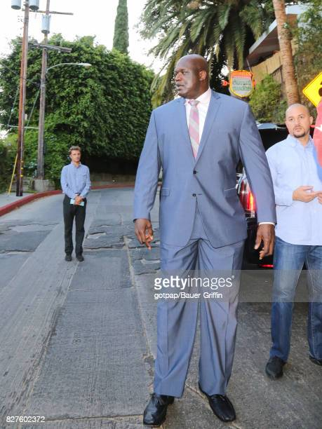 Shaquille O'Neal is seen on August 07 2017 in Los Angeles California
