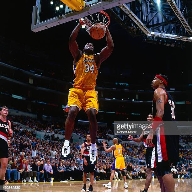 Blazers Vs Lakers: Shaq Lakers Stock Photos And Pictures