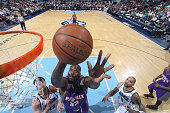 Shaquille O'Neal of the Phoenix Suns goes for the layup against the Utah Jazz at EnergySolutions Arena on March 28 2009 in Salt Lake City Utah NOTE...