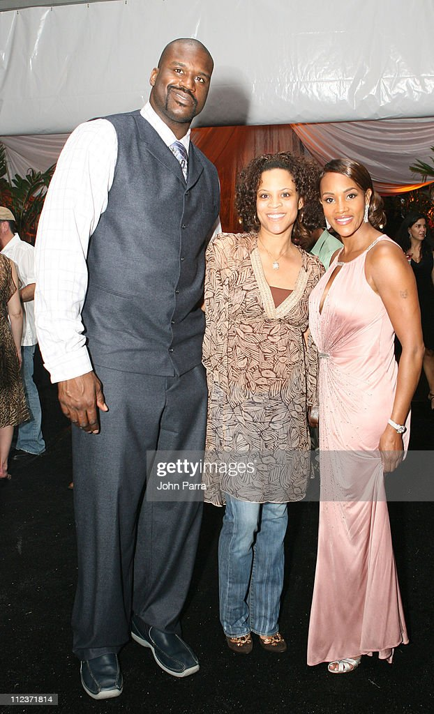 Shaquille O'Neal, Shaunie O'Neal and Vivica A.Fox during Best Buddies 9th Annual Miami Beach Gala 'Havana Nights' - Inside and Backstage at Star Island in Miami Beach, Florida, United States.