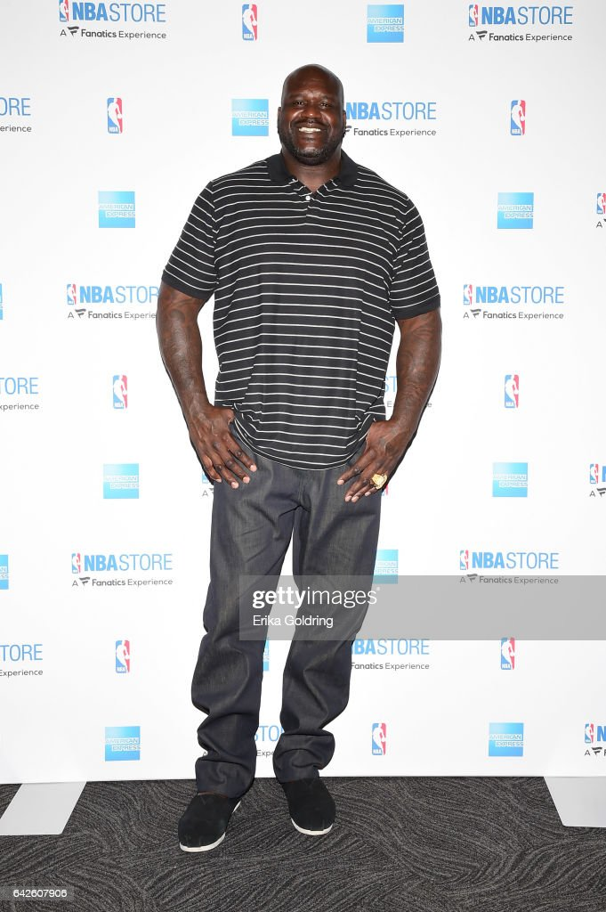 Shaquille O'Neal surprises Boys & Girls Club of Southeast Louisiana with American Express at the NBA Store for NBA All-Star on February 17, 2017 in New Orleans, Louisiana.