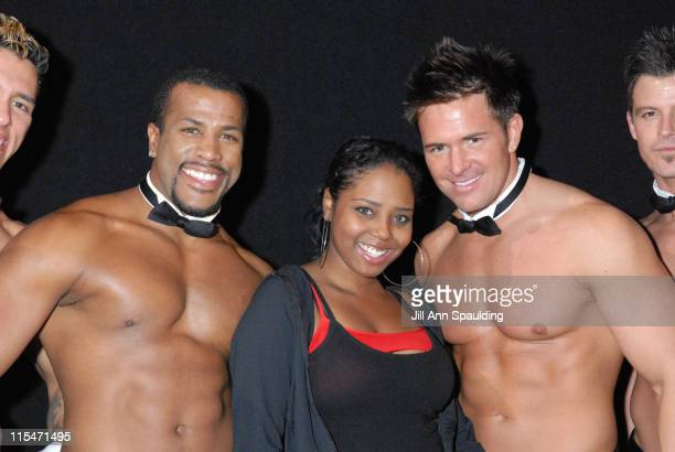 Shar Jackson with The Men of Chippendales