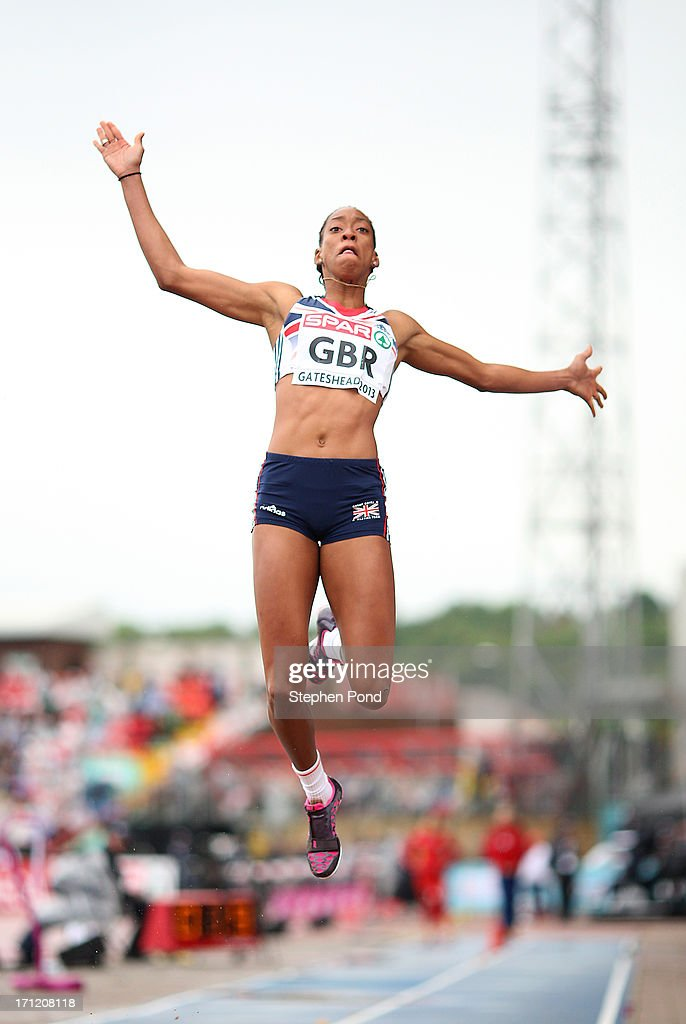 <a gi-track='captionPersonalityLinkClicked' href=/galleries/search?phrase=Shara+Proctor&family=editorial&specificpeople=795829 ng-click='$event.stopPropagation()'>Shara Proctor</a> of Great Britain competes in the womens long jump during day two of the European Athletics Team Championships at Gateshead International Stadium on June 23, 2013 in Gateshead, England.