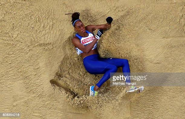 Shara Proctor of Great Britain competes in the Women's Long Jump qualification during day six of the 16th IAAF World Athletics Championships London...