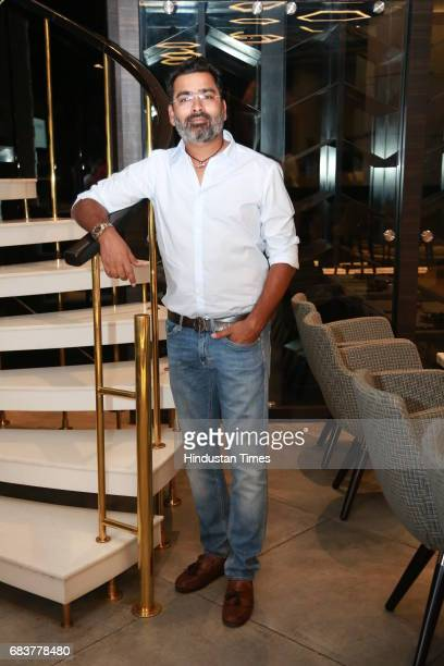 Sharad Batra during special dinner for Royal Challengers Bangalore teammates by Virat Kohli at his new restaurant Nueva RK Puram on May 12 2017 in...