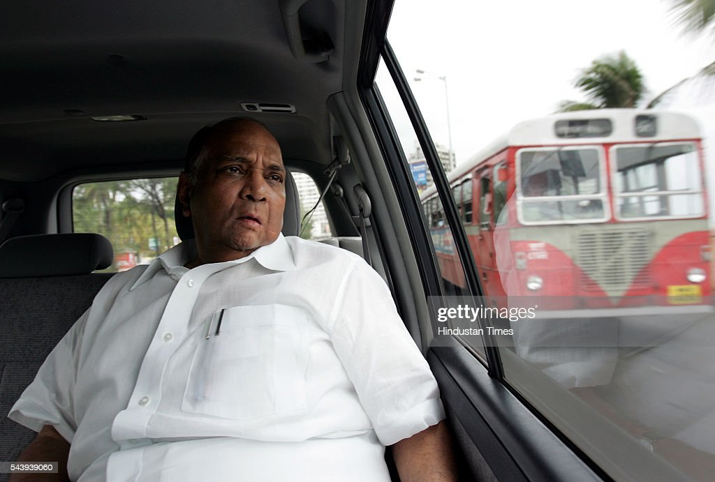 Sharad Pawar photographed on July 22, 2005 in Mumbai, India. Heavy rains lashed across the city leaving most of the areas around the city in a flooded state.