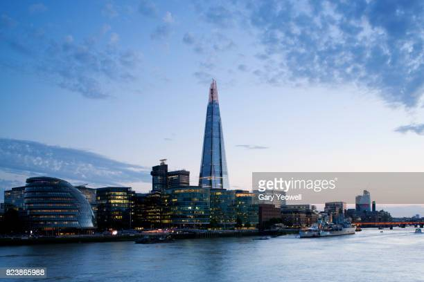 Shard and River Thames in London