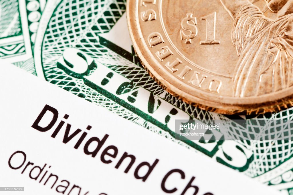 US Share Dividend : Stock Photo