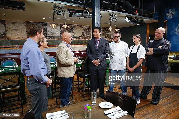 RESTAURANT 'Shared Plates' Episode 102 Pictured Jeffrey Zurofsky Maggie Nemser Tom Colicchio CK Chin Mat Clouser Callie Speer and Staff at Swift's...