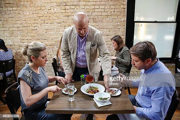 RESTAURANT 'Shared Plates' Episode 102 Pictured Maggie Nemser Tom Colicchio Jeffrey Zurofsky at Swift's Attic