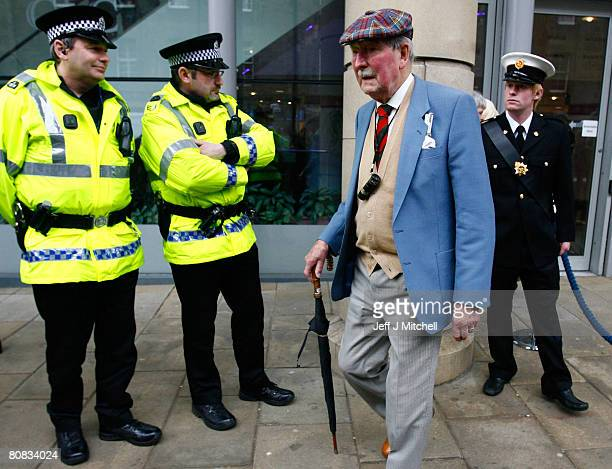 A shareholder of the Royal Bank of Scotland exits the Edinburgh International Conference centreafter attending their annual general meeting on April...
