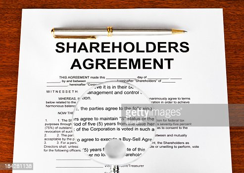 Shareholders Agreement Stock Photo  Getty Images