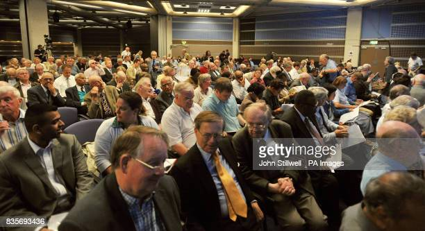 Shareholders attend the BA Annual General Meeting at the Queen Elizabeth centre London