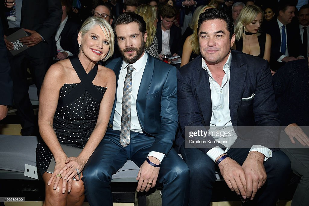 Sharen Jester Turney Charlie Weber and Dean Cain attends the 2015 Victoria's Secret Fashion Show at Lexington Avenue Armory on November 10 2015 in...