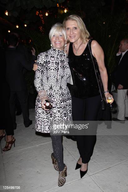 Shari Applebaum and Grazka Taylor attend the MOCA Beach Party Presented by Maybach At The Raleigh on December 1 2010 in Miami Florida