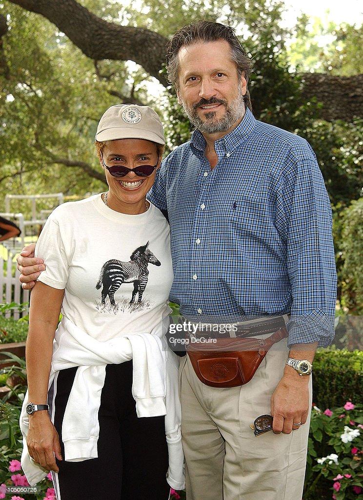 Shari Belafonte & Sam Behrens during Wildlife Waystation Presents The 8th Annual Safari Brunch at Private Home in Pasadena, California, United States.