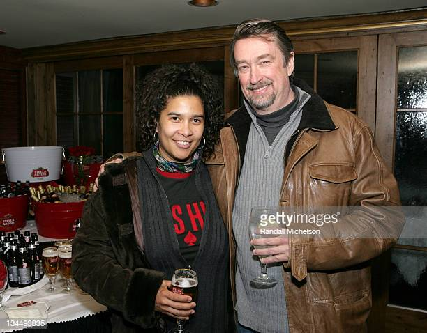 Shari Frilot and Geoffrey Gilmore during 2007 Sundance Film Festival Stella Artois Dinner at Stein Erickson Lodge in Park City Utah United States