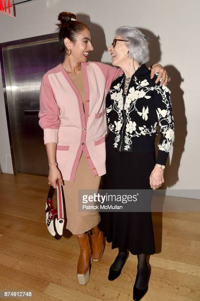 Shari Loeffler and Barbara Tober attend Barbara Tober hosts a party for 'AVEDON Something Personal' at Museum of Art and Design on November 15 2017...