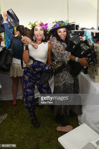 Shari Loeffler and stylist June Ambrose attend OCRFA's 20th Annual Super Saturday to Benefit Ovarian Cancer on July 29 2017 in Watermill New York