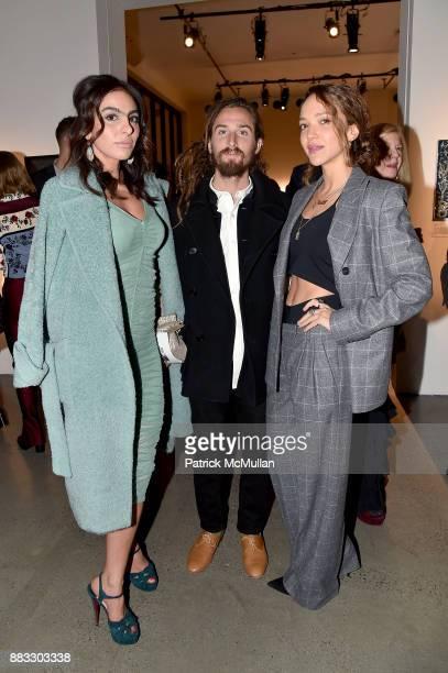 Shari Loeffler Max Hoffman and Zoe Buckman attend the 2017 ARTWALK NY Benefiting Coalition for the Homeless at Spring Studios on November 29 2017 in...