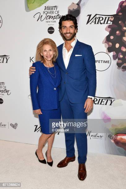 Shari Redstone and Justin Baldoni attend Variety's Power of Women New York at Cipriani Midtown on April 21 2017 in New York City