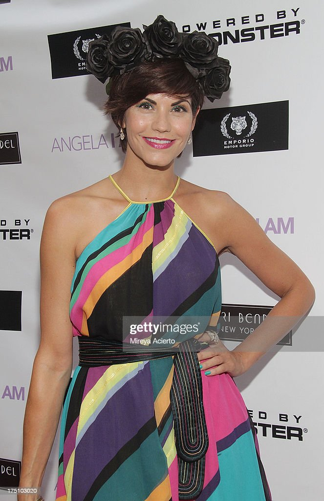 Sharie Manon attends the Angela I Am launch at Henri Bendel on July 31, 2013 in New York City.