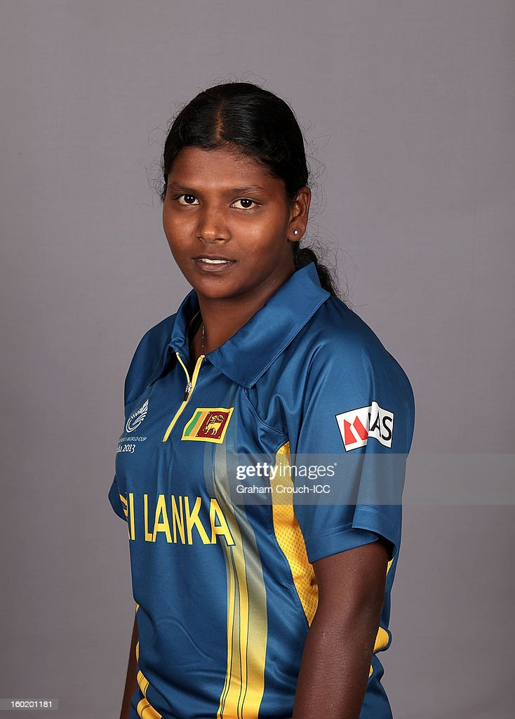 Sharina Ravikumar of Sri Lanka poses at a portrait session ahead of the ICC Womens World Cup 2013 at the Taj Mahal Palace Hotel on January 27, 2013 in Mumbai,India.