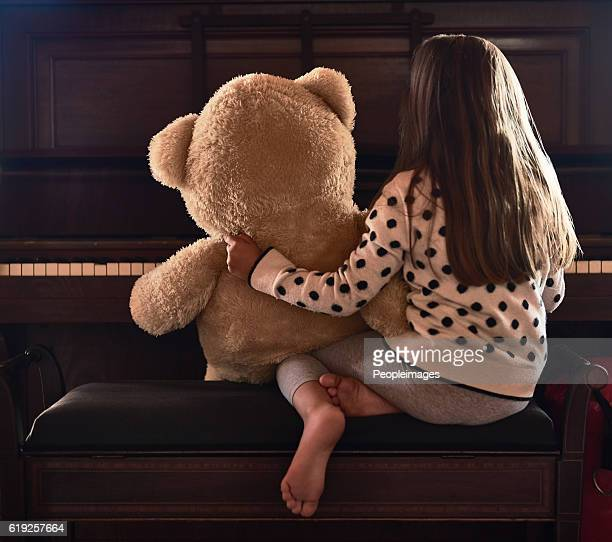 Sharing her talents with her teddy