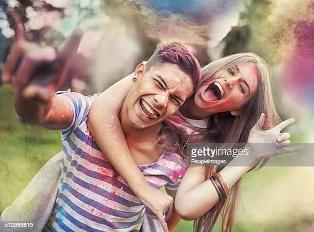 In der Farbe Spaß