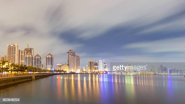 Sharjah buildings near Khalid lagoon
