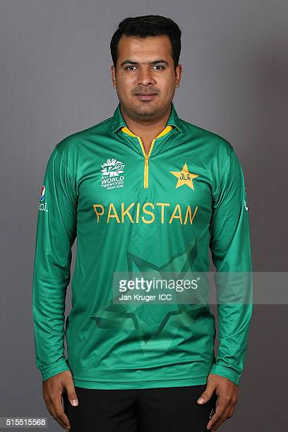 Sharjeel Khan poses during a Pakistan headshots session on March 14 2016 in Kolkata India