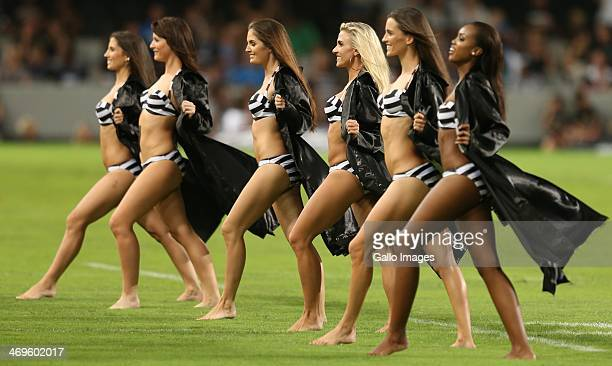 Sharks flasher girls during the Super Rugby match between Cell C Sharks and Vodacom Bulls at Growthpoint Kings Park on February 15 2014 in Durban...